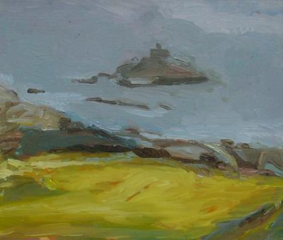 St Michael's Mount, Misty Morning by Isobel Johnstone