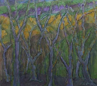 Group Of Trees #2 by John Hubbard