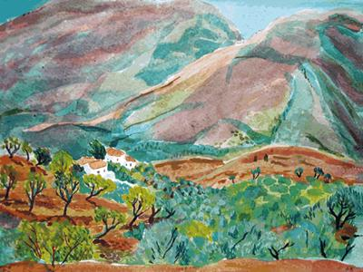 Farmhouse, Las Alpujarras by Annabel Keatley