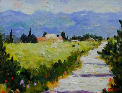 Road To Villars, Provence by Marcel Gatteaux