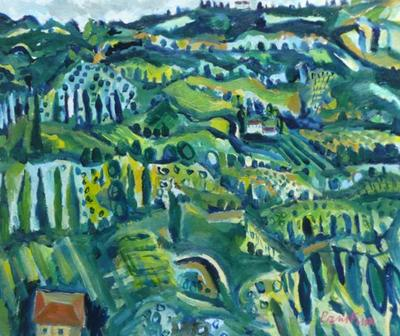 View From Orvieto, Spring by Paul Finn