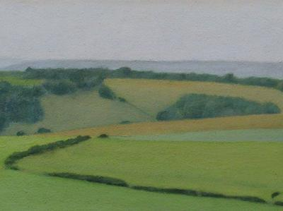 Sussex Downs Near East Dean (Study) #1 by David Stubbs