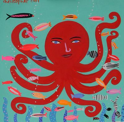 Red Octopus by Christopher Corr