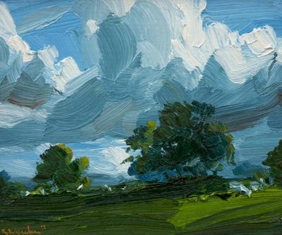 Row Of Trees, Midday Light by Robert Newton