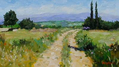 Path From Bonnieux by Marcel Gatteaux