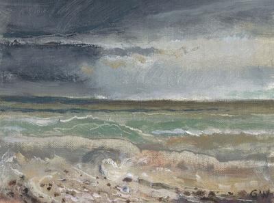 Wind, Rain, Storm Seas by Gerry Whybrow