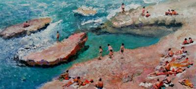 Bathers On The Rocks by Will Smith