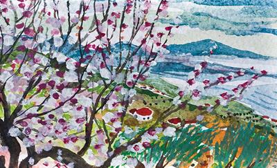 The Almond Tree Outside My Studio by Annabel Keatley