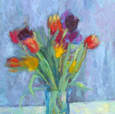 Rainbow Tulips by Isobel Johnstone