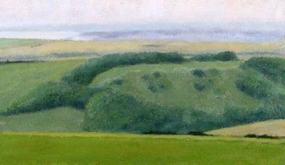 Downs Study From Beachy Head by David Stubbs