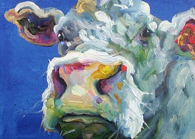 Pembrokeshire Cow 10 by Jelly Green