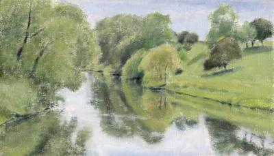 River Tees At Hurworth by David Stubbs
