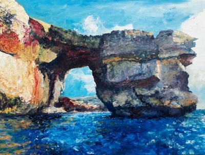 Azure Window, North Side by Will Smith