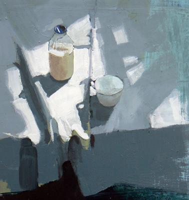 Milk Bottle & Cup by Susan Ashworth